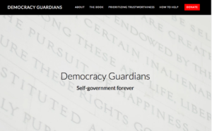 Democracy Guardians website snapshot